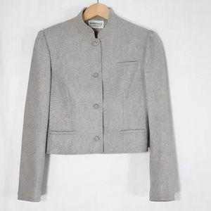 Diane Von Furstenberg Gray wool blazer